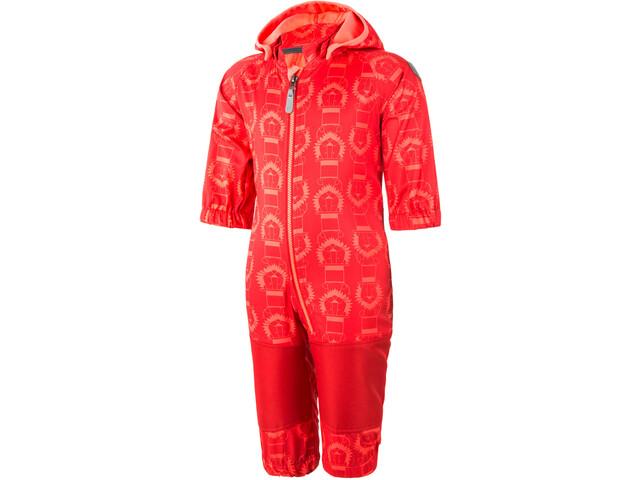 Color Kids Tajo Mini Softshell Overall Kinder racing red